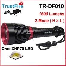 2016 TrustFire TR-DF010 Cree XHP70 Желтый свет 3000K / белый 6500K 1600 люменов Дайвинг светодиодный