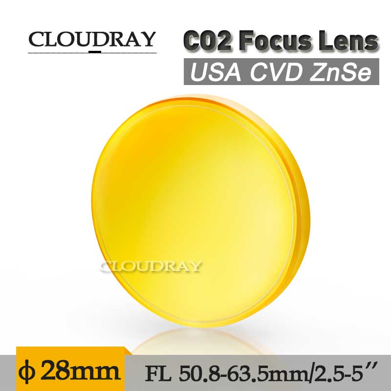 Cloudray Co2 Laser Lens USA CVD ZnSe Focus Lens 63.5mm 2.5