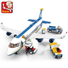 Sluban B0366 463Pcs international airport airbus aircraft boy educational toys building blocks DIY Educational bricks  цена 2017