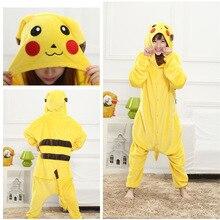 Слиперы панды пижамы для девочек костюм животного для мальчиков толстовка пижамы  Пикачу Кигуруми пижамы Дети Аниме 9e1484df3e1d7