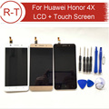 Para huawei honor 4x lcd de pantalla 1280x720 hd de 5.0 pulgadas lcd display + touch panel reemplazo para huawei honor 4x celular