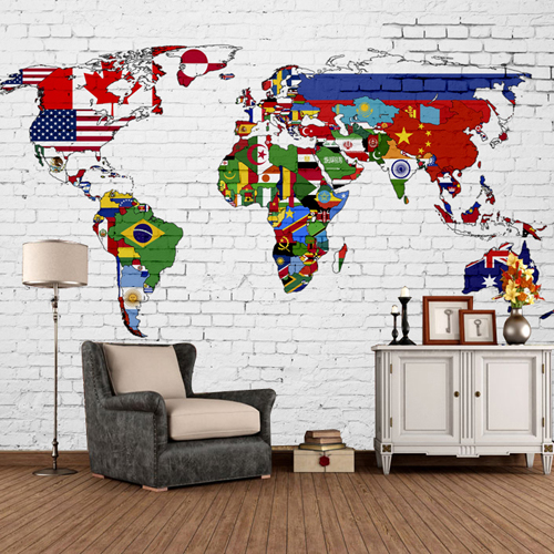 3D nostalgic vintage wallpaper world maps large murals living room dining room sofa background wall wallpapers junran america style vintage nostalgic wood grain photo pictures wallpaper in special words digit wallpaper for living room