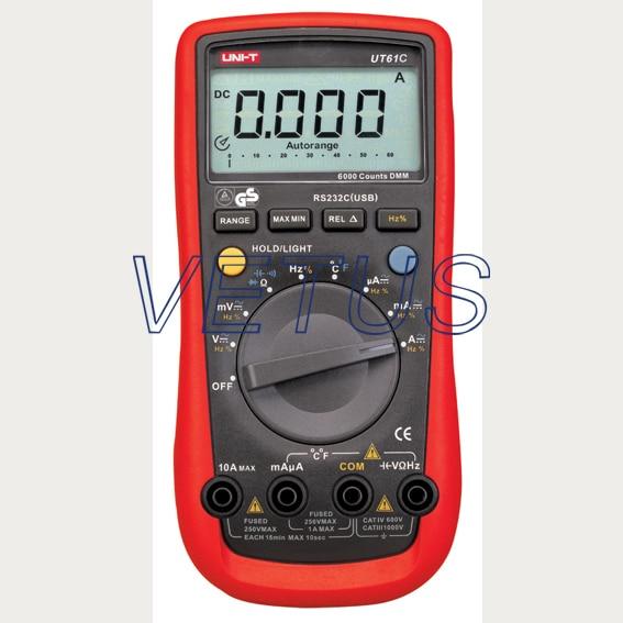 UNI-T LCD UT61C UT-61C Handheld modern Digital Multimeter AC DC meter uni t ut60d ut 60d lcd handheld digital multifunction multimeter with autorange bandwidth 100khz 3db
