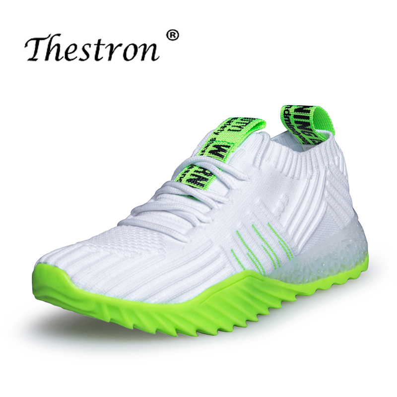 Couples Running Shoes Orange Light Green Fitness Women Shoes Spring Autumn Jogging Male Sneakers Lace Up Sneakers For Unisex