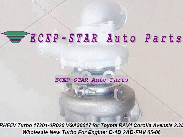 RHF5V VB13 17201-0R020 17201-0R021 VGA30017 VAA30017 Turbo Turbocharger For Toyota RAV4 D-4D Corolla Avensis Auris 2AD-FHV 2.2L