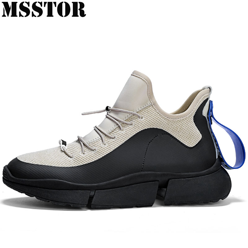 MSSTOR 2019 New Men's Running Shoes Breathable Mesh Sport Shoes For Men Casual Fashion Athletic Walking Sneakers Man Brand