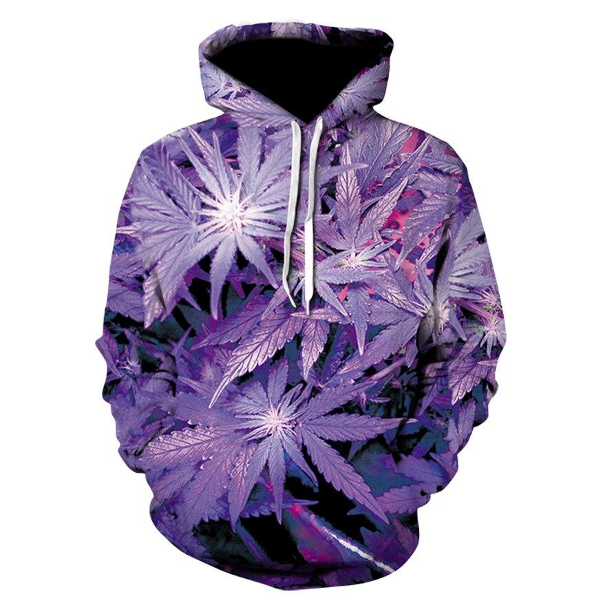 Autumn Winter Fashion Men/women Hoodies With Cap Print Purple Leaves Flowers  Leaves 3d Hoodie Sweatshirts Hoodie Tracksuit