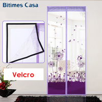 Girl Style Lovely Door Curtain Screen Anti Mosquito Insects High Quality Mesh Long Magnets With Lace