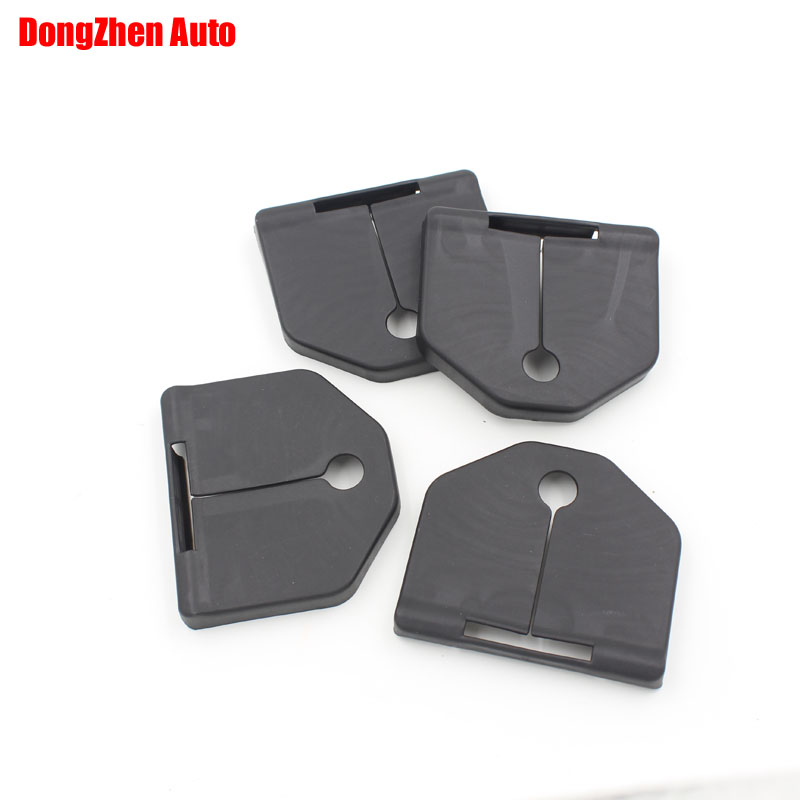 1set 4pcs Car door lock protecting cover Anti-corrosive Exterior Auto accessories For Volvo S80L 2009-2012