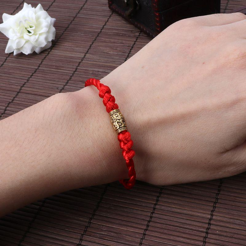 Chinese Feng Shui Lucky Beads Bracelet Red Thread Rope Gold Silver Jewelry Men Women Gifts Friends Couples