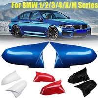 1Pair Gloss Rear view Mirror Cover for BMW F20 F21 F22 F30 F32 F36 X1 F87 M3 2012 2013 2014 2015 2016 2017 Black Red Blue White