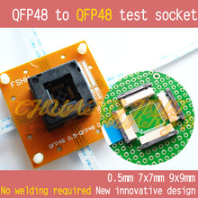 No welding QFP48 to test socket TQFP48 LQFP48 48 Pitch=0.5mm Size=7x7mm 9x9mm