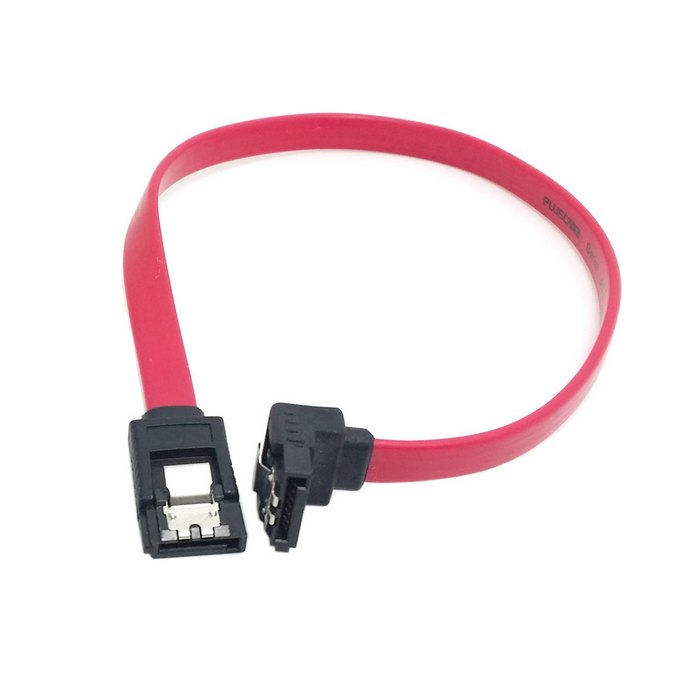 0.3m 1m 30cm 100cm SATA 7pin female to female Extension Cable with Locking Latch and 90 Degree Angled sata Plug for Hard Disk