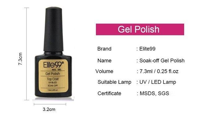 Elite99 Top Basis Coat Soak Off Gel Nagellack UV LED Nagel Primer Builder Fingernagel Gel Lack Nail art Lack nagel Maniküre