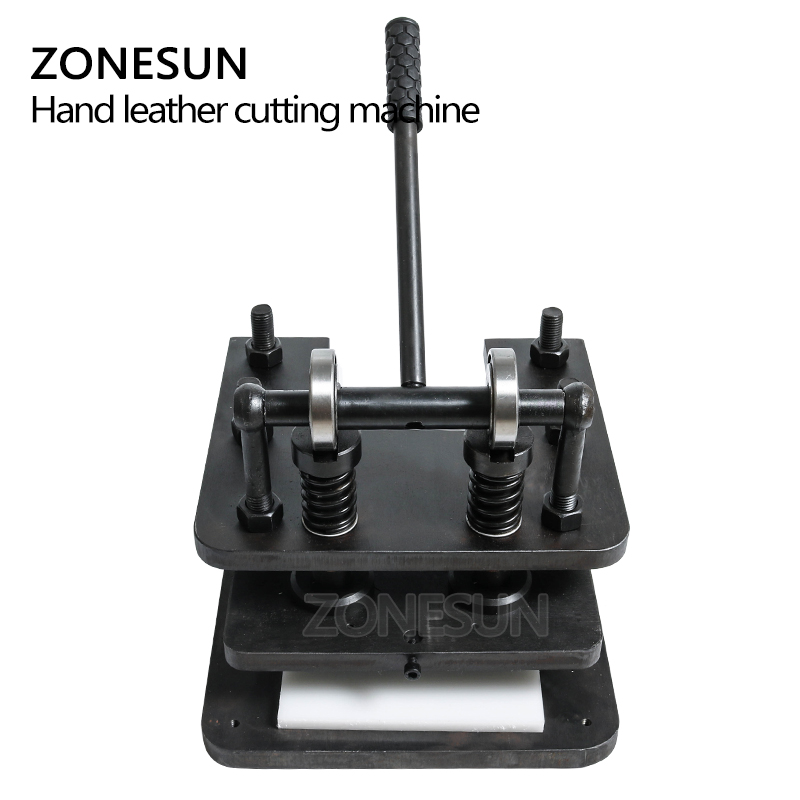 ZONESUN 2614 Hand leather cutting machine DIY wallet bag photo paper PVC/EVA sheet mold cutter leather Die cutting machine - 4