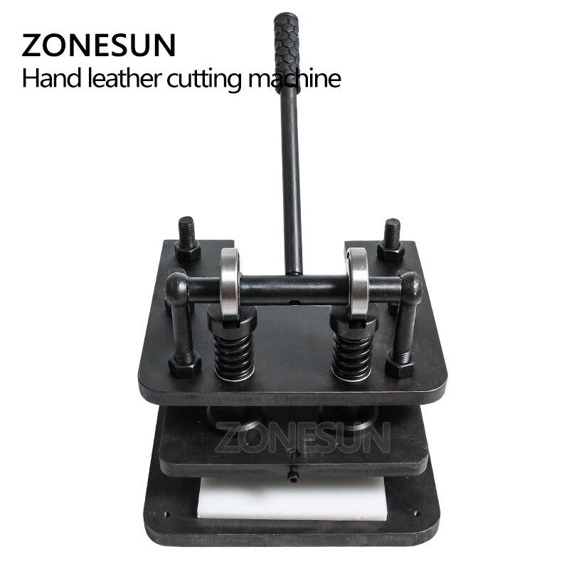 ZONESUN 2614 Hand lederen snijmachine DIY portemonnee tas fotopapier PVC/EVA blad mold cutter lederen stansen machine - 4
