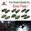 13pcs LED License Plate Bulb Interior Dome Map Lights Kit For Hyundai For Santafe Grand Santa