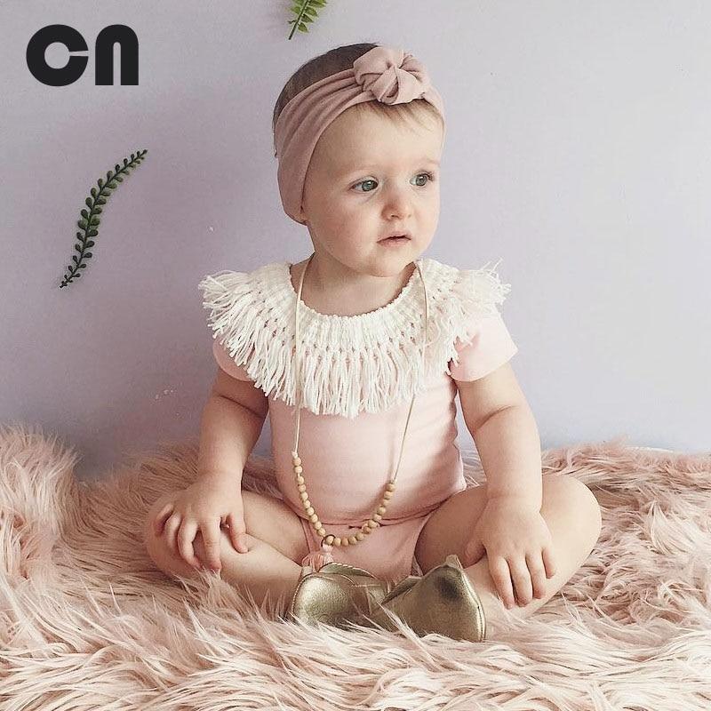 CN الصيف طفلة داخلية شرابة الوردي أنثى - ملابس للأطفال الرضع