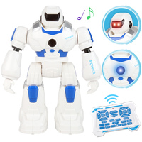 RC Control Robot Dancing Singing Action Figure Remote Multifunction Control Robot with LED Light Toy Boy Toys Birthday Gift