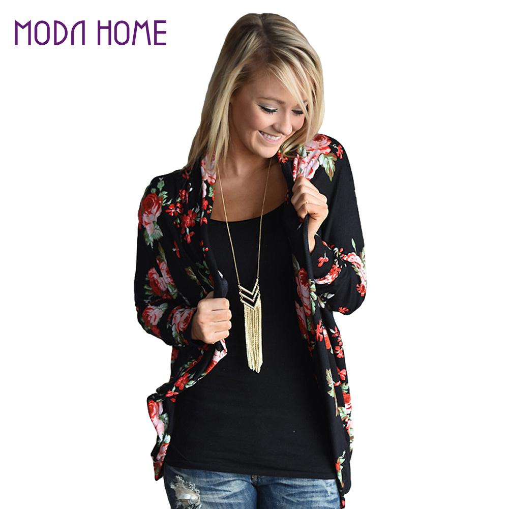 Official Website Fall Womens Casual Cardigan Loose Camo Long Sleeve Blouse Shirt Outwear Jacket Coat Tops Casual Last Style Women's Clothing