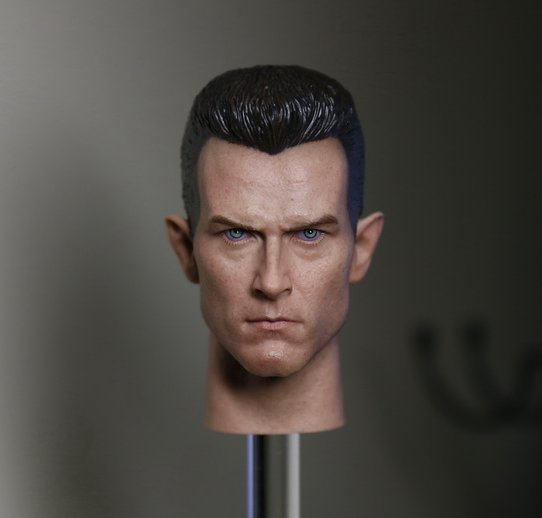 1:6 scale male Figure accessories Terminator 2: Judgment Day T1000 head shape carved for 12 Action figure doll 1 6 scale figure doll head shape for 12 action figure doll accessories the terminator arnold schwarzenegger male head carved