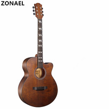 ZONAEL 40 Inch High Quality Acoustic Guitar Folk Guitar Musical Instruments Unisex Rosewood Fingerboard Picea Asperata Guitarra