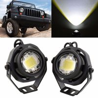 2pcs Silver Waterproof LED Car Eagle Eye Lights 10W IP67 12V Car Fog Daytime Reverse Backup