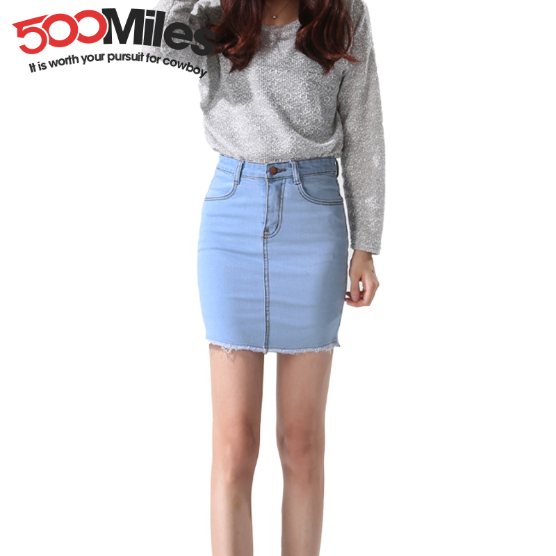 Denim Short Skirts - Skirts