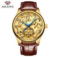 AILANG top luxury Swiss watch, Swiss gear S3 wrist watch, waterproof designed diver watch, men's gold bracelet, self winding
