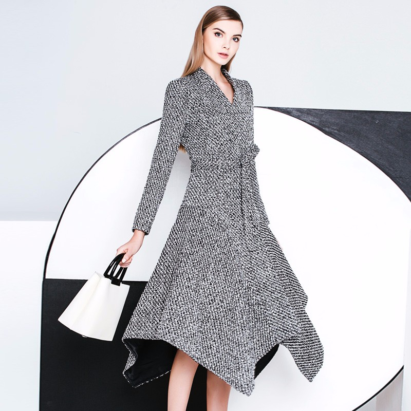 Popular Tweed Belted Coat-Buy Cheap Tweed Belted Coat lots from