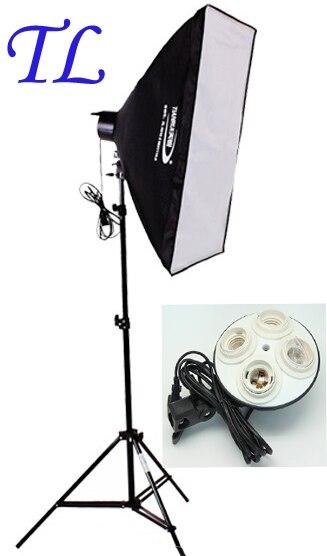 Photo stuido Soft Box set light Photography flash softbox lamp holder hold for 4 lamps