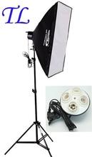 Fotoğraf stuido Yumuşak Kutu seti işık Fotoğrafçılık flaş softbox + 4 lambalar için 24 W LED lamba tutucu tutun 175 W Ampul