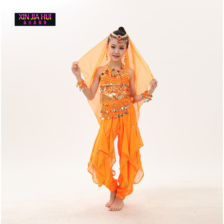 853df722057e3 Qualité Indien Sari robe pour filles Orientale Enfant Indien Costumes Pour Enfants  Oriental Costumes de danse Du Ventre De Danse Ensembles Vêtements De ...