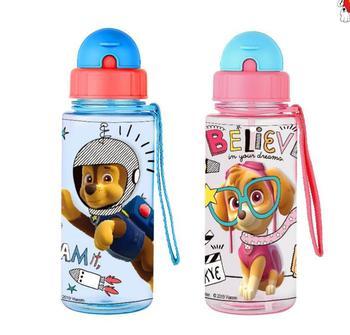 本ポウパトロール子供哺乳瓶わら漫画素敵な環境に優しい蓋ポータブル PP Tritan カップスポーツボトル 500 ミリリットル