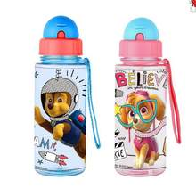 0c4d2467e7 Genuine Paw patrol kids Feeding Bottle with straw Cartoon Lovely  Eco-friendly lid Portable PP