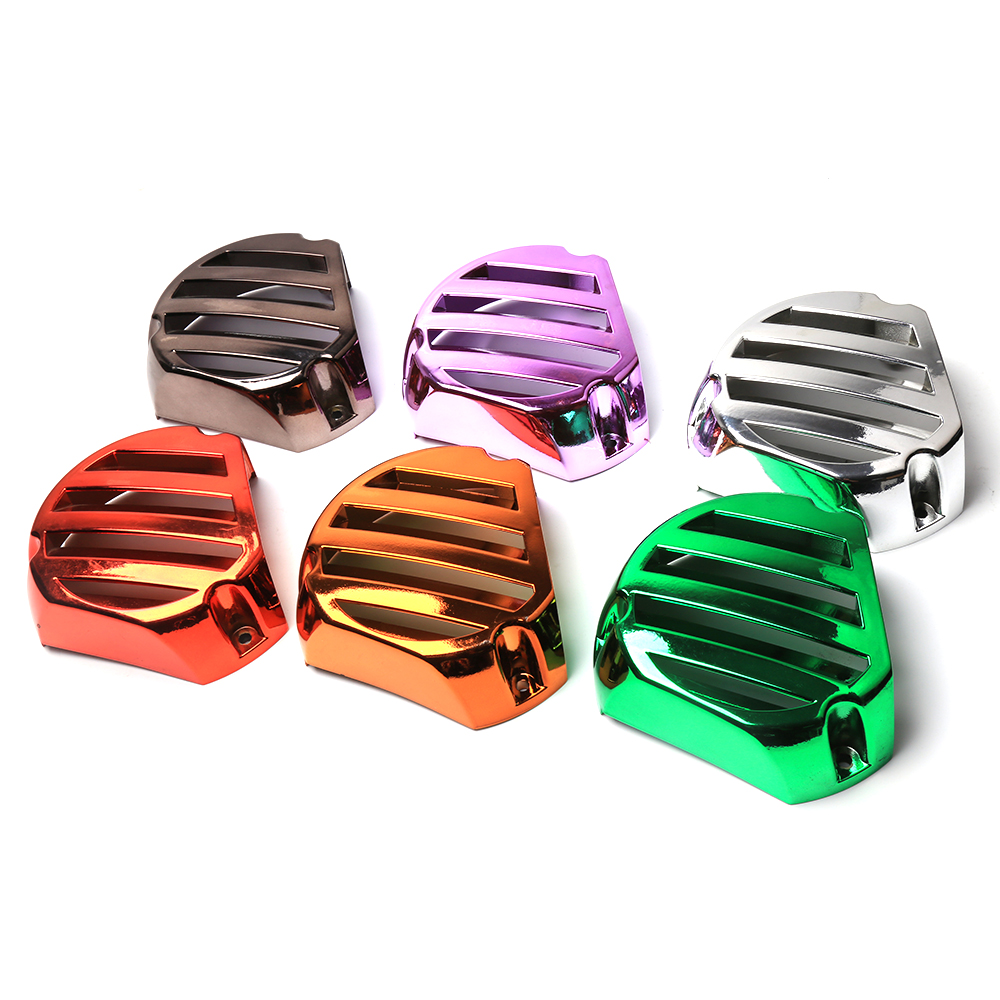 Motorcycle Accessories Fan Cover Refitting Moped Scooter Electroplate Fan Cover For Yamaha BWS X 125 Cygnus 125 GTR 125 motorcycle scooter electroplate front headlight headlamp head light lamp small mask cap cover shield large for yamaha bws x 125