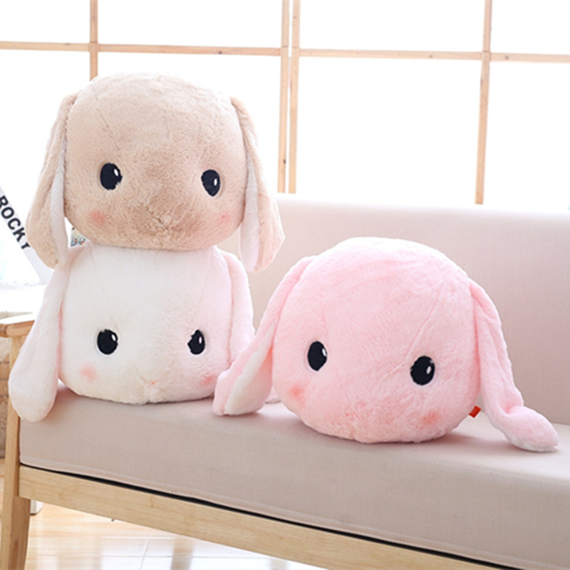 50cm Japanese Long Ears Rabbit Plush Pillow Stuffed Soft Big Head Rabbit Toys Dolls Kawaii Amuse Lop Plush Toy Doll Kids Girl недорого