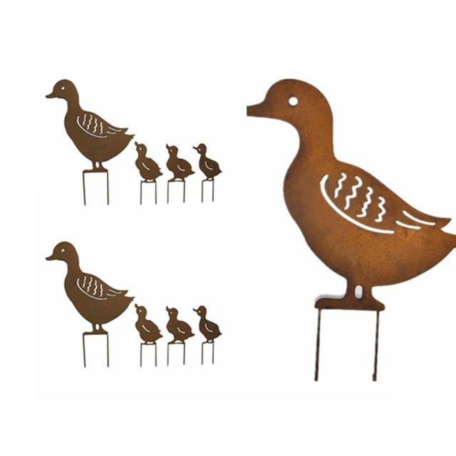 Duck Figurines Set for Garden Decor