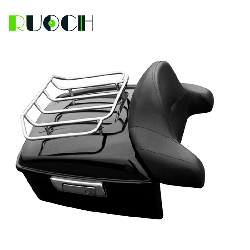 King Tour Pak Pack Trunk w Luggage Rack Latch Backrest For Harley HD Touring Road Street Glide 14-18 Motorcycle Accessories (1)