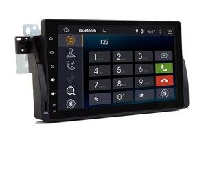 Image 2 - 9 インチの Hd タッチスクリーンアンドロイド 9.0 車の dvd プレーヤー、 bmw E46 M3 Wifi 3 グラム GPS Bluetooth ラジオ RDS ステアリングホイールコントロールマップ