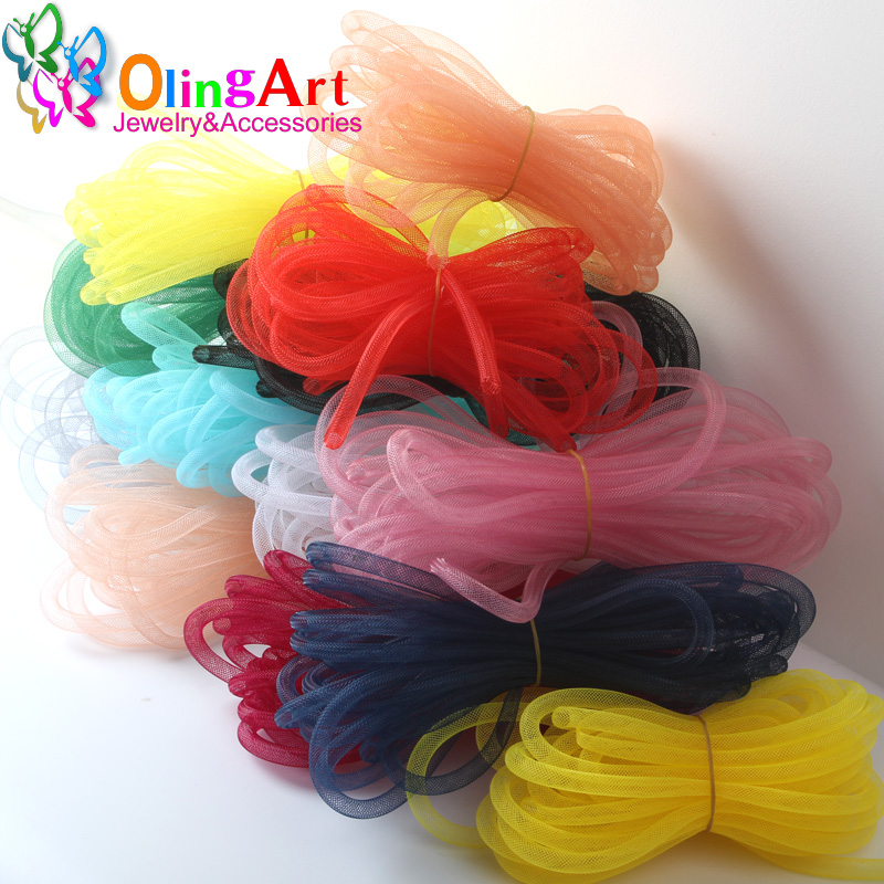 OlingArt Dia 4mm/8mm 10M/lot Wholesale Colorful Mesh Bracelet Jewelry DIY Fitting With Crystal Stones Filled Necklace Choker