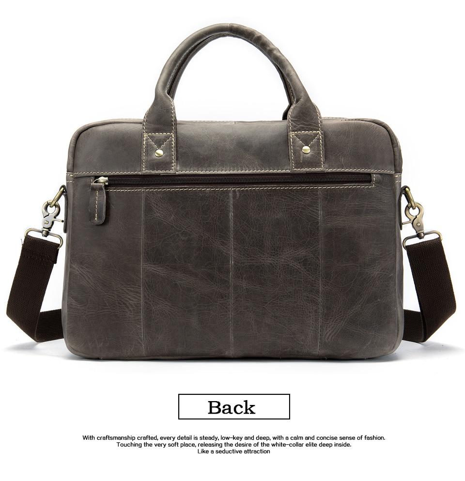 HTB17sLvayYrK1Rjy0Fdq6ACvVXaz WESTAL men's briefcase bag men's genuine Leather laptop bag office bags for men business porte document briefcase handbag 8503