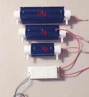 Ev Aletleri'ten Kişisel Bakım Aletleri Parçaları'de 10G Tüp Ozon Jeneratörü Su Arıtma Ozon Güç Kaynağı + Kuvars ozon borusu Seti