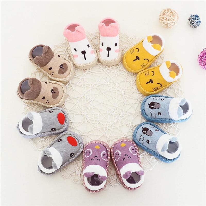 Cute Newborn Baby Girl//Boy Toddler Anti Slip Shoes Cartoon Slipper Floor Socks
