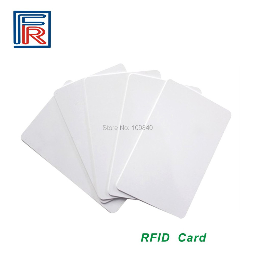 200pcs/lot Premium Seller High frequency 13.56MHz RFID Card White ISO14443A key cards non standard die cut plastic combo cards die cut greeting card one big card with 3 mini key tag card