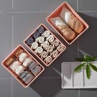 3pcs/set wardrobe underwear box plastic covered with household Drawer Chest Box underwear sock sorting box