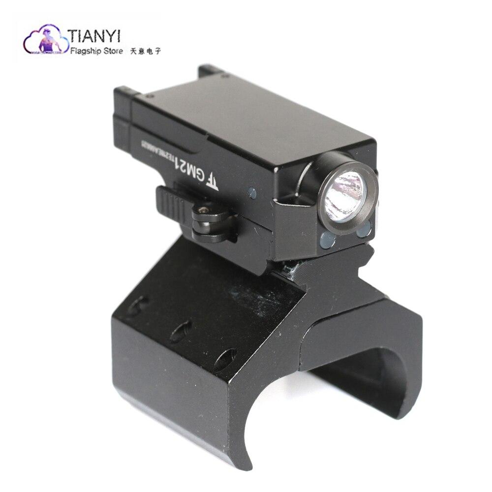 LED fusil de chasse fusil Glock pistolet Flash lumière torche tactique lampe de poche avec dans 20mm rails torche pistolet montage adaptateur Rail Bipod montage