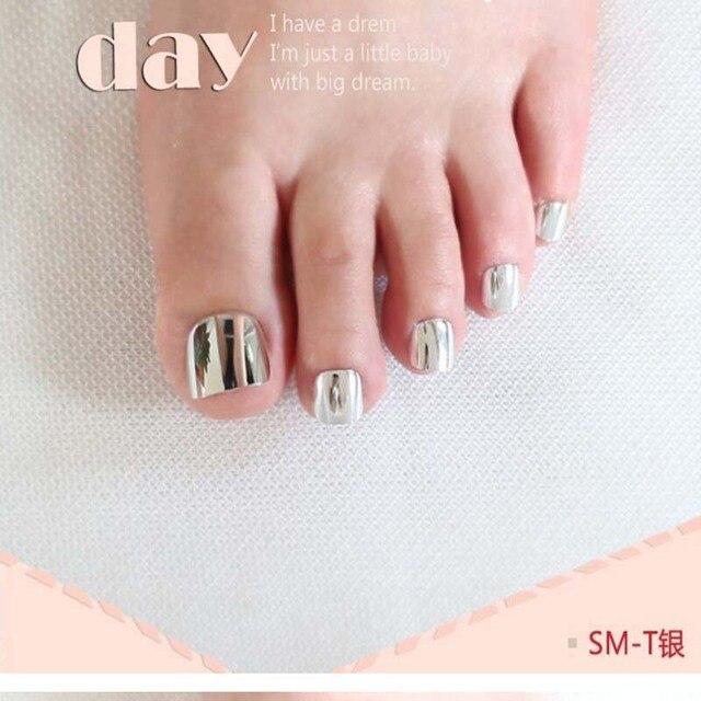 2017 Sexy moda de uñas postizas nail plate metal dimensión corta de ...
