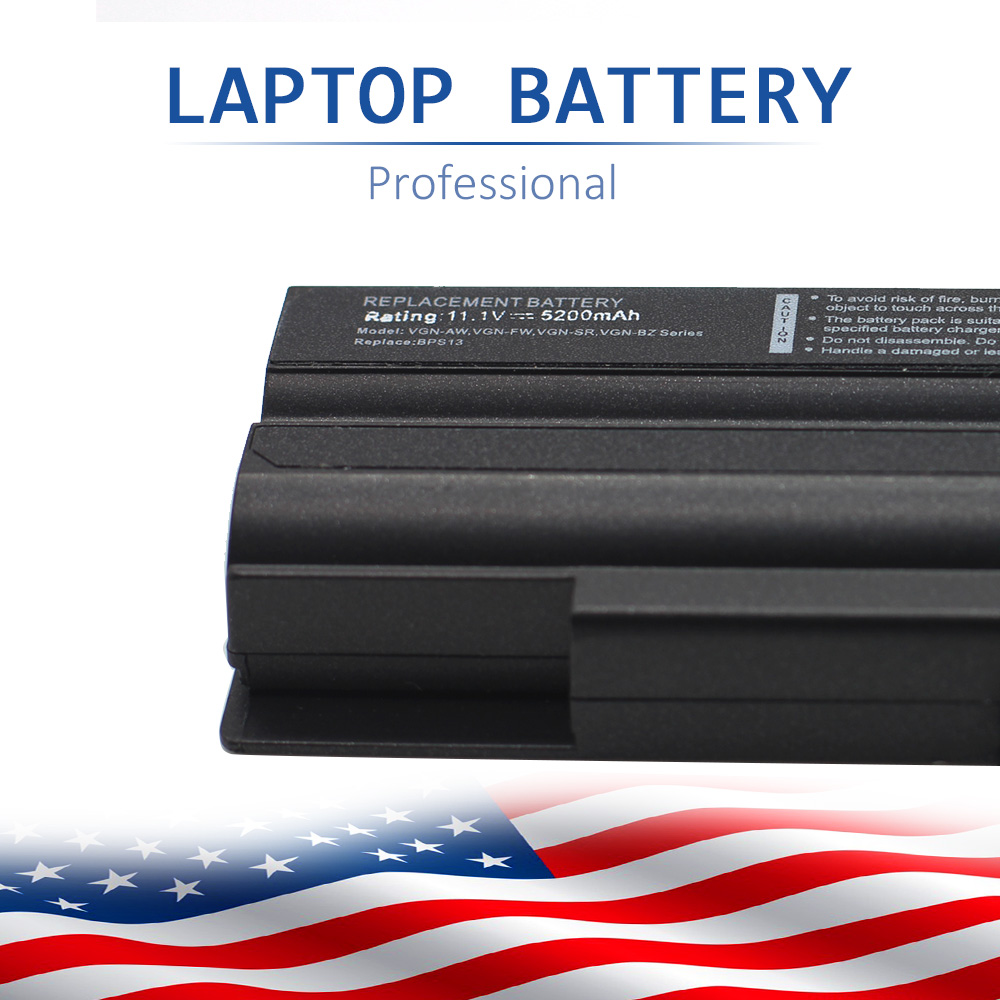 11.1V/5200mAh 6cell lithium Battery For Sony Vaio VGP-BPS13 VGP-BPS13A VGP-BPS13/S VGP-BPS13B/S VGN-FW Brand new SZXX hsw laptop battery for sony vgp bps13 vgp bsp13 s vgp bps13a b vgp bps13b b vgp bpl13