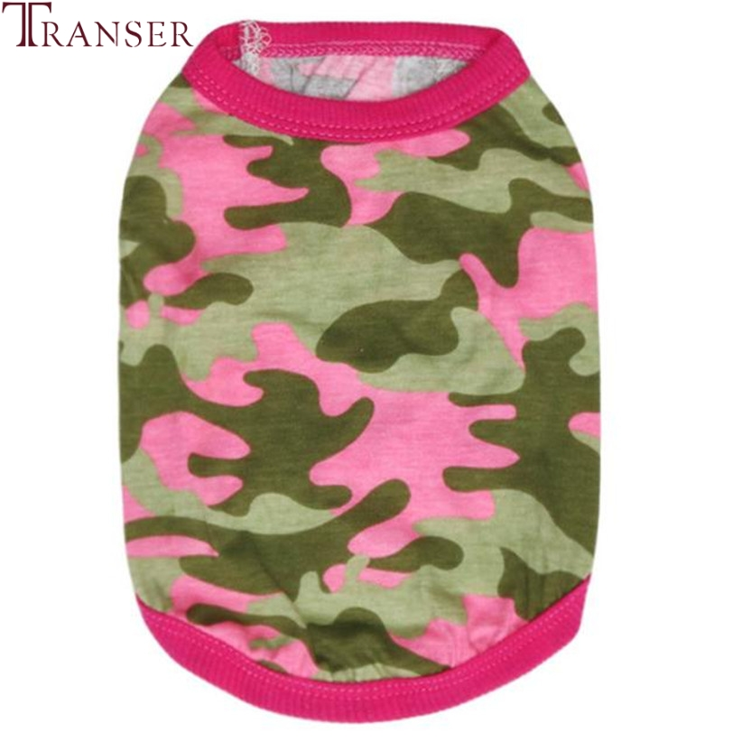 Transer Pet Dog Clothes For Small Dogs Pink Camouflage Dog Vest Teddy Tee Shirt 80118